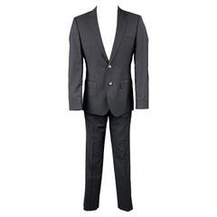 HUGO by HUGO BOSS Regular Size 36 Dark Blue Virgin Wool Single Breasted Suit