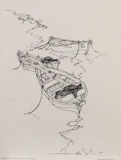Three Boats-'75. International Art Publishing Co. Detroit, Michigan