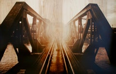 Crossing Bridges - contemporary and elegant, photography on wood