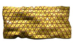 Brimstone Yellows I  - Flexible Rigids - sculptural wall, parametric design