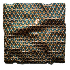 Flexible Rigids - Venezuelan Sea, carved wood sculptural wall, parametric design