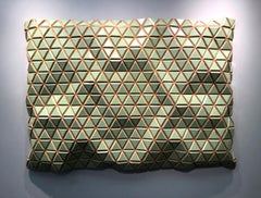 Jade Gem - Flexible Rigid, carved wood sculptural wall, parametric design