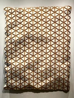 White Glacier - Flexible Rigid, carved wood sculptural wall, parametric design