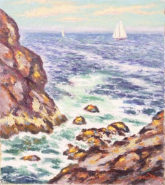 early American Modernist Seascape, 'New England, Rocky Seashore'