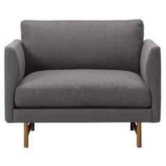 Hugo Passos Calmo Lounge Chair 80, Wood Base