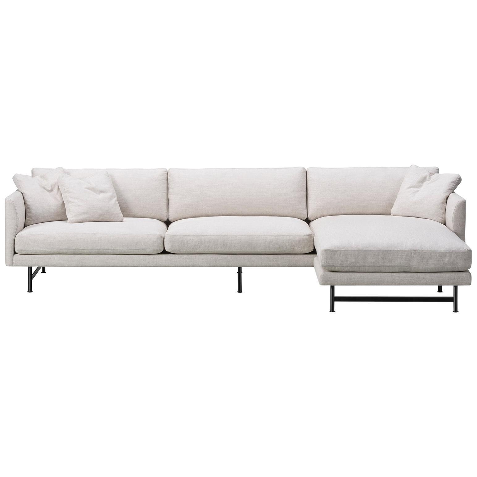 Hugo Passos Calmo Sofa 95, 3-seater, Chaise, Metal Base