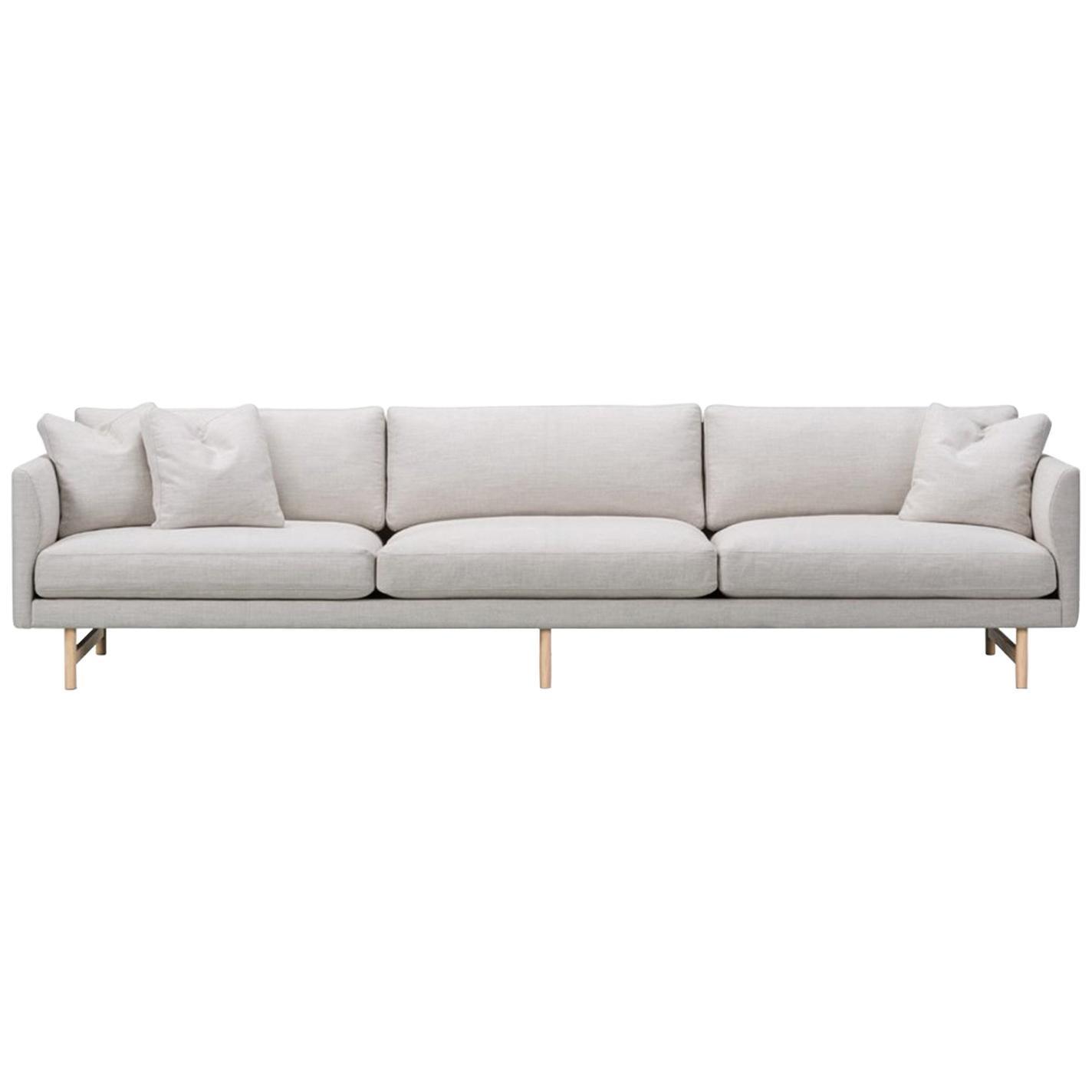 Hugo Passos Calmo Sofa 95, 3-Seater, Wood Base
