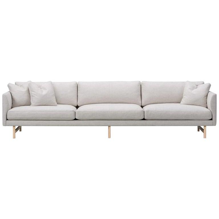 Hugo Passos Calmo Sofa 95, 3-Seater, Wood Base For Sale