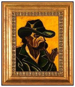 Hugo Scheiber RARE Original Oil Painting On Board Signed Portrait Framed Artwork