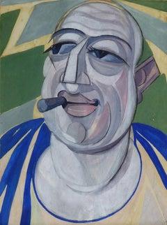 Self Portrait with Cigar