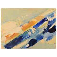 Hugo Ståhle, Sweden, Oil on Canvas, Abstract Composition, 1960s-1970s