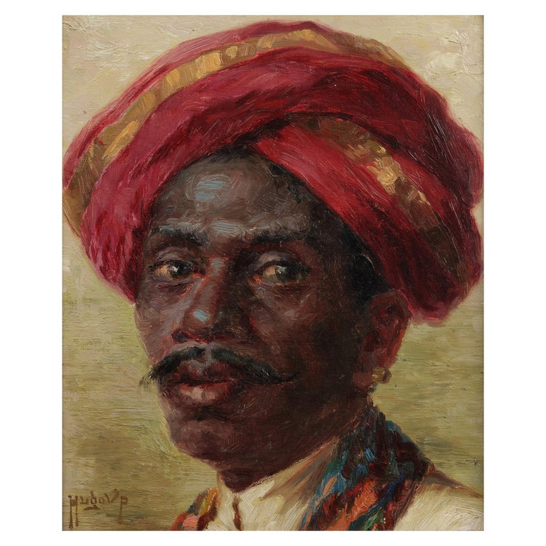 Hugo Vildred von Pedersen, Portrait of a Madras Boy For Sale