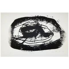 "Hugo Weber Original Abstract Color Lithograph Titled ""Chez Elle"", 1964"