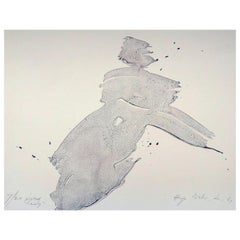 """Hugo Weber Original Abstract Color Lithograph Titled """"Posed Lady"""", 1964"""