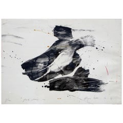 "Hugo Weber Original Abstract Color Lithograph Titled ""Spook Noir"", 1964"
