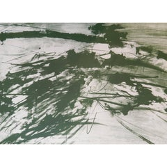 """Hugo Weber Original Abstract Color Lithograph Titled """"Undone"""" - 1964"""