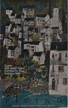 Original Poster - Hugo Wetli: Ticino Painting Holidays Switzerland