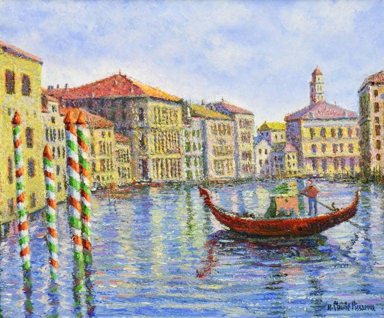 Crépuscule à Venise by H. CLAUDE PISSARRO - Post-Impressionist style painting - Painting by Hughes Claude Pissarro