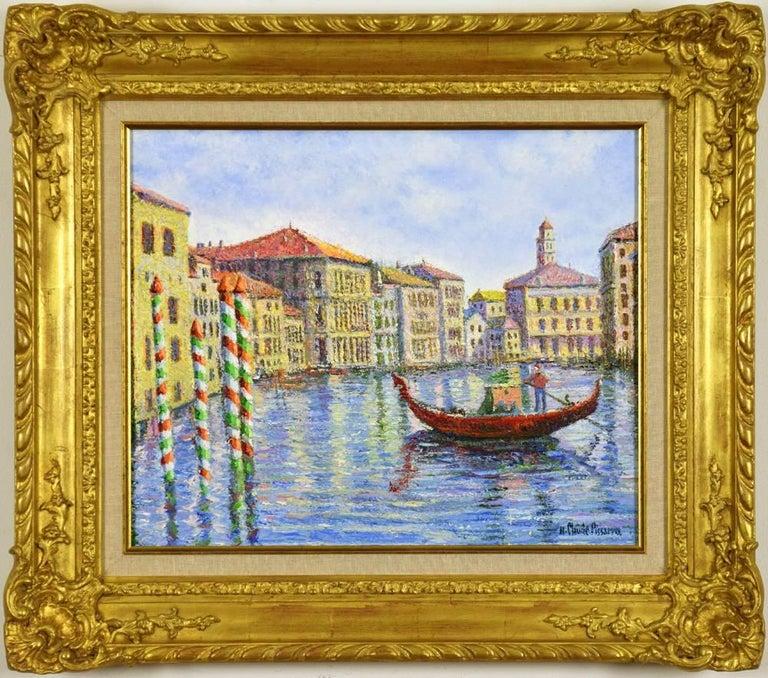 Hughes Claude Pissarro Figurative Painting - Crépuscule à Venise by H. CLAUDE PISSARRO - Post-Impressionist style painting