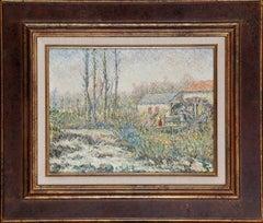 Post Impressionist painting 'Le Moulin des Tourailles' by Hugues Claude Pissarro