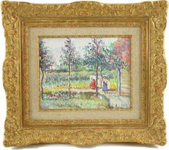 Spring in the Garden Post-Impressionist Oil on Canvas by Hugues Claude Pissarro