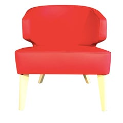 Hugy Red Armchair