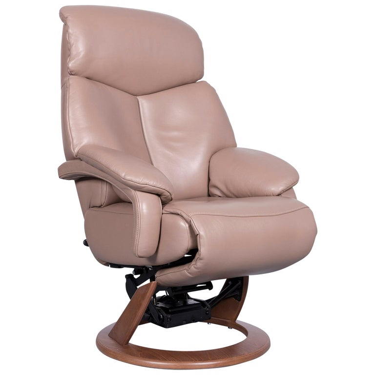 Hukla Cosy Relax Designer Leather Armchair Brown Chair With Recliner Function At 1stdibs