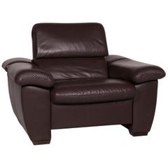 Hukla Leather Armchair Brown Incl. Function