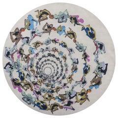 Human Cirlce: Inferno carpet, Handknot in Wool, 200 Kn, Veneziano & Di Virgilio