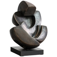 Human Love Patinated Bronze Sculpture