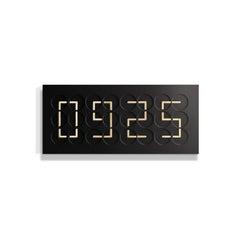 ClockClock 24 Black with Golden Hands