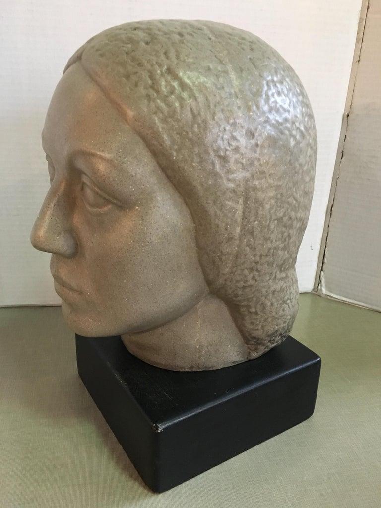 American Humbert Albrizio Stone Head of Woman For Sale