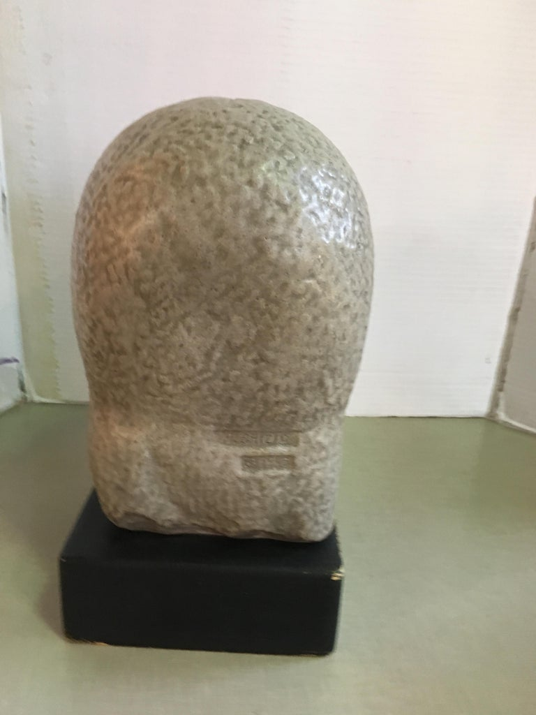 Humbert Albrizio Stone Head of Woman In Good Condition For Sale In Chicago, IL