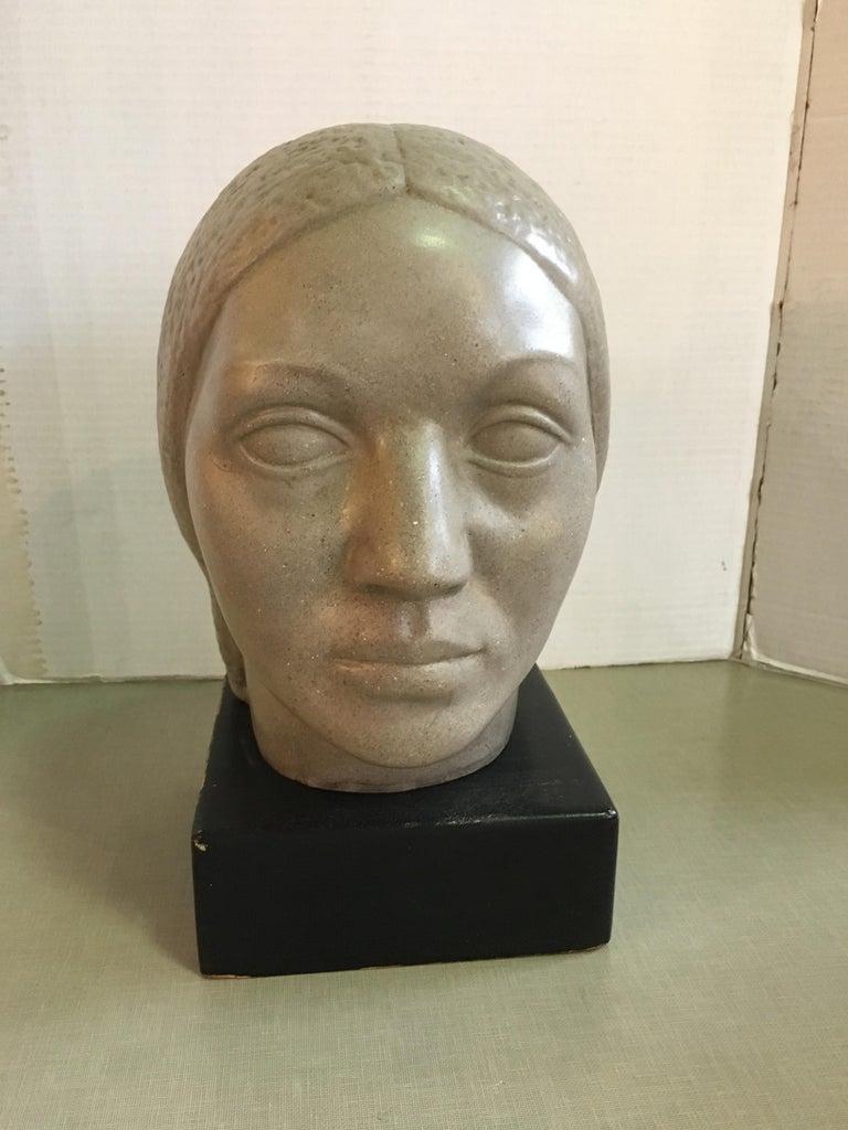 Mid-20th Century Humbert Albrizio Stone Head of Woman For Sale