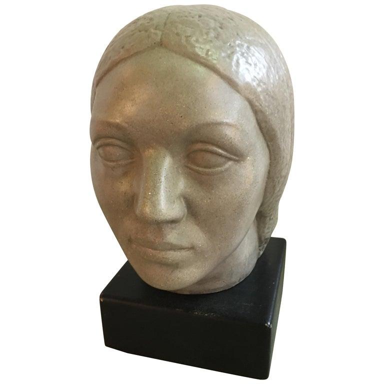 Humbert Albrizio Stone Head of Woman For Sale