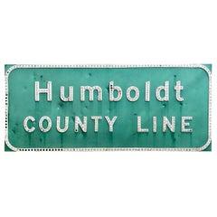Humboldt California Freeway Sign