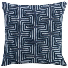 Humbolot Hand-embroidered Accent Pillow with Abstract Pattern by CuratedKravet