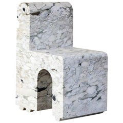 Hume Marble Sculptural Chair by Kelly Wearstler