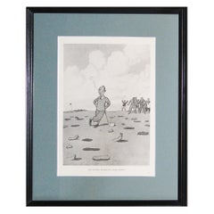 Humorous Golf Print by H M Bateman