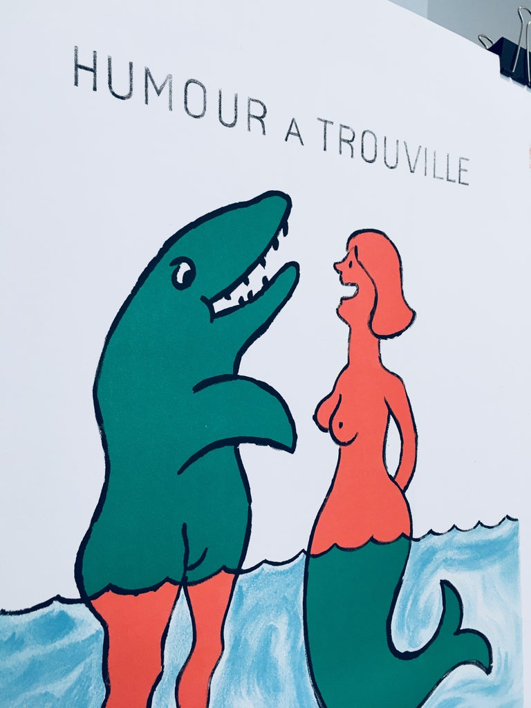 'Humour A Trouville' by Raymond Savignac, Original Vintage French Poster In Good Condition For Sale In Melbourne, Victoria