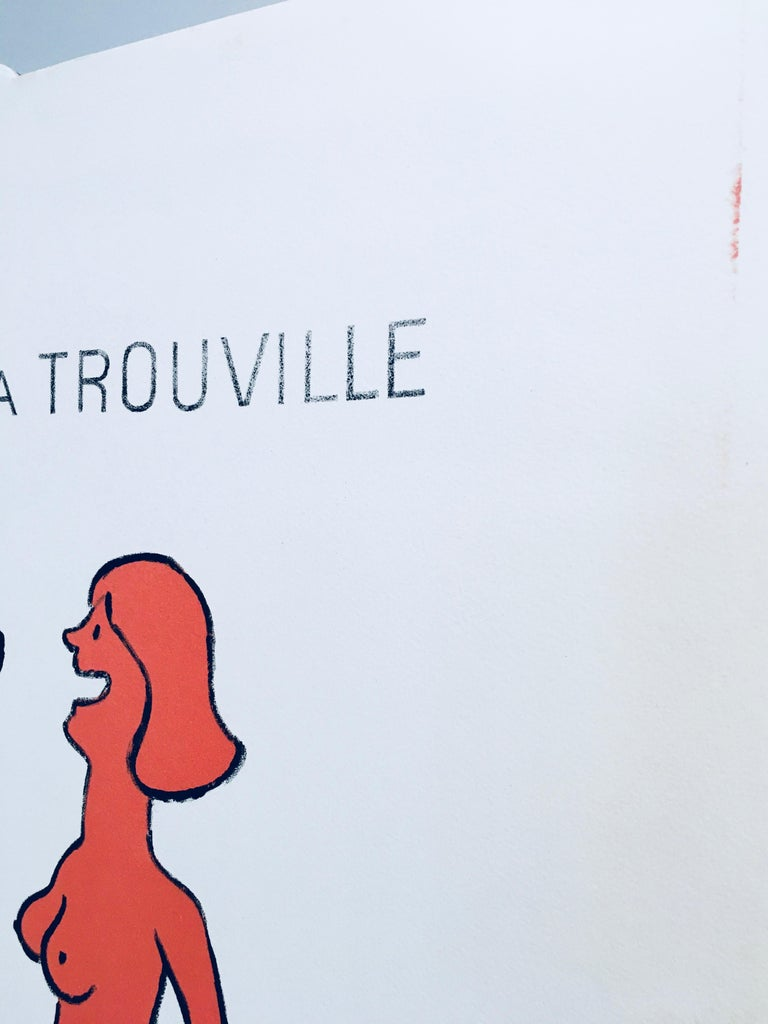 Late 20th Century 'Humour A Trouville' by Raymond Savignac, Original Vintage French Poster For Sale