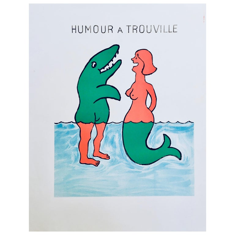 'Humour A Trouville' by Raymond Savignac, Original Vintage French Poster For Sale