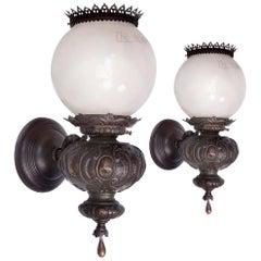 Humphrey Arts & Crafts Hammered Copper Sconces, Pair