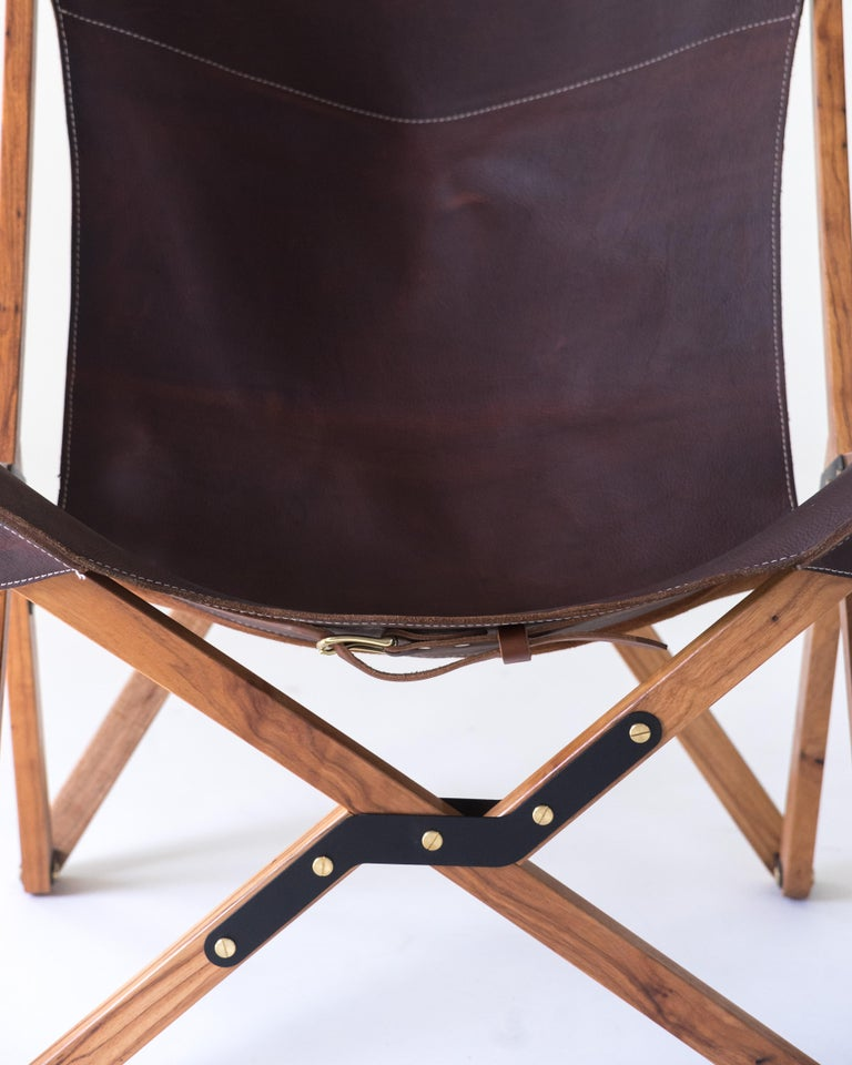 Timeless and sophisticated, the humphrey chair is beautiful in any place you put it. Made in solid American pecan with pebbled calfskin the chair is made just outside of Austin with careful attention to detail, built to last for