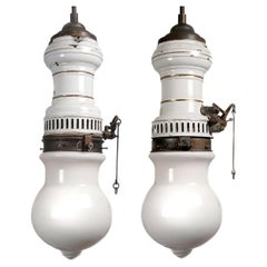 Humphrey Inverted Arc Lamps, Pair