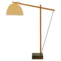 Humphreys Skye Floor Lamp Canvas Shade and American Pecan Wood Base