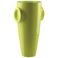 Humprey Vase in Lacquered Acid Green Polyethylene by JVLT/Joe Velluto for Plust