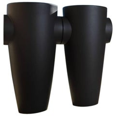 Humprey Vase in Matte Pearl Black Polyethylene by JVLT/Joe Velluto for Plust