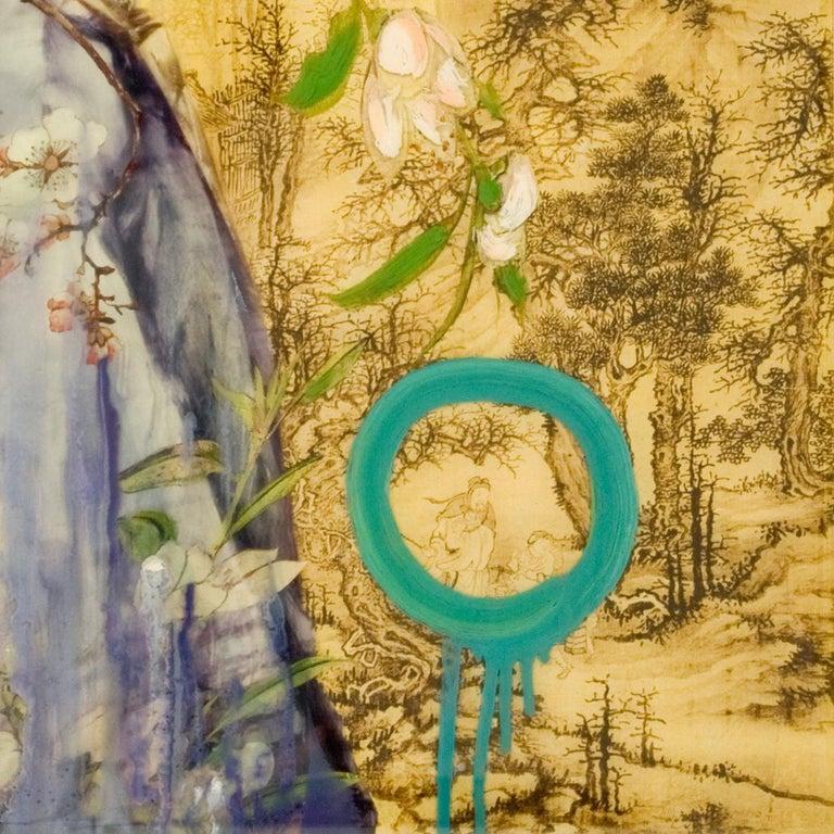 Mountain Lady IV - Contemporary Mixed Media Art by Hung Liu