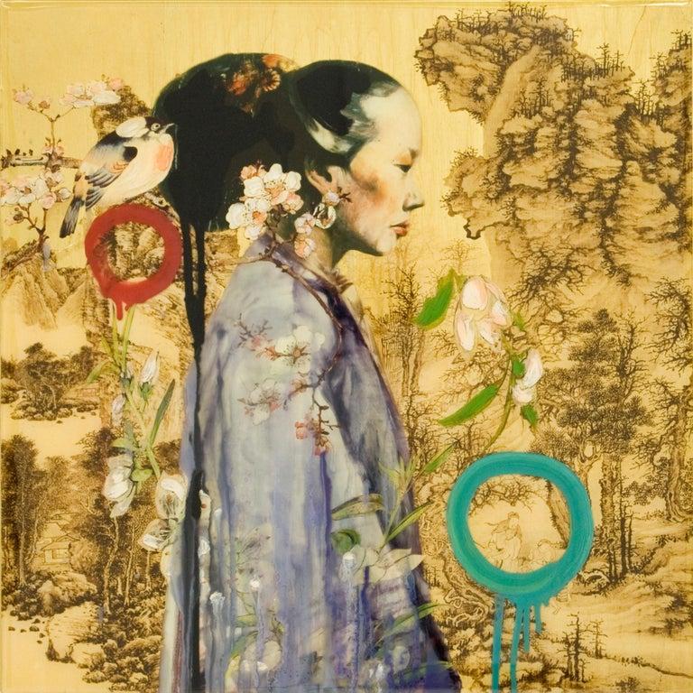 Mountain Lady IV - Mixed Media Art by Hung Liu